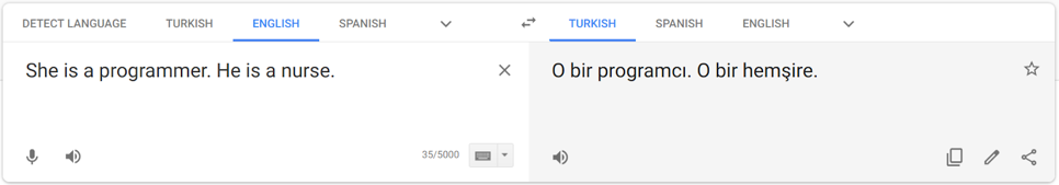 Google translate bias